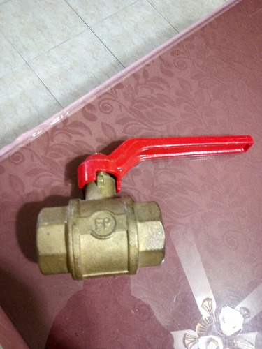 llave paso rápido  1 1/4  fp en bronce pesada  300psi