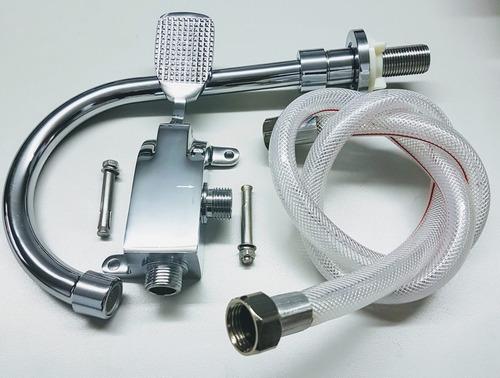 llave pedal para lavamanos o lavaplatos  con accesorios