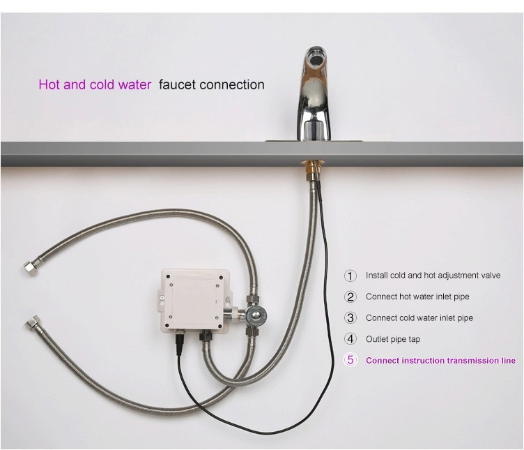 Llave sensor infrarrojo para ba o lavabo automatica for Llaves con sensor para bano