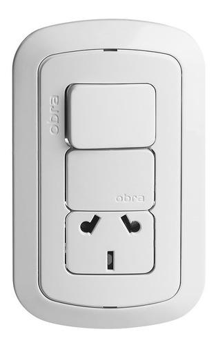 llave tecla luz armada covre obra punto y toma interruptor