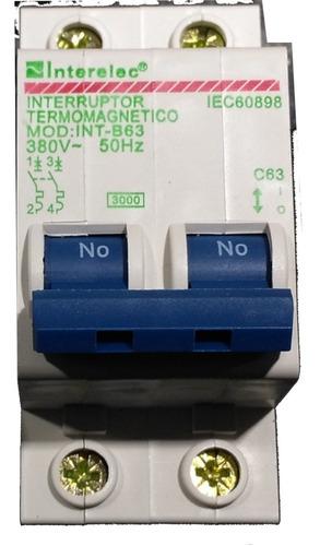 llave térmica 2x63a 400v iec60898 corriente alterna