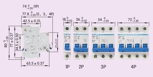 llave termica de 4 p de 32 a  marca chint 6ka
