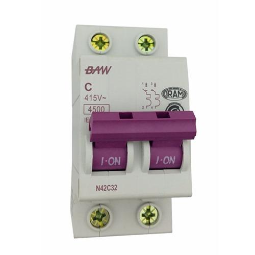 llave termica termomagnetica bipolar 2x20 amp iram - baw