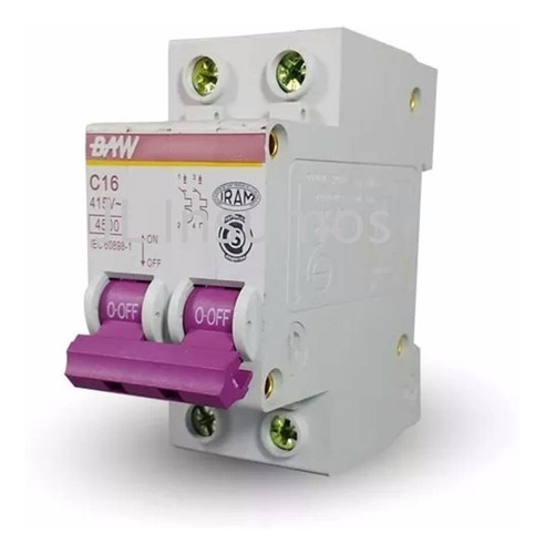 llave termica termomagnetica bipolar 2x32 amp iram baw a