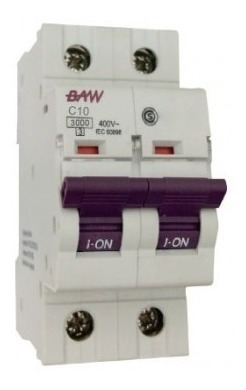 llave termica termomagnetica bipolar 2x40 amp iram - baw