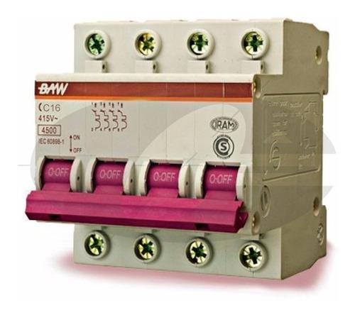 llave termica termomagnetica tetrapolar 4x15 amp iram