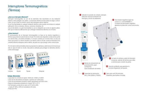 llave termica tripolar 10-16-20-25-32a chint 6ka garantia 2a