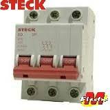 llave termica tripolar 3 x 6a steck sd 3p c6  electro medina
