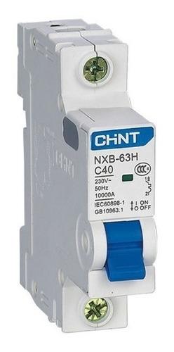 llave termica unipolar 10-16-20-25-32a chint 6ka garantia 2a