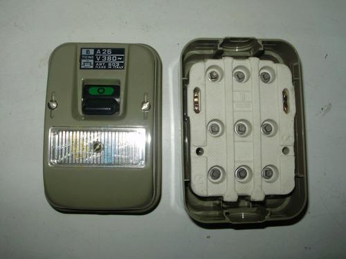 llave ticino tripolar 26a 380v nueva caja original sin uso