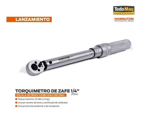 llave torquimetro zafe safe 1/4 hamilton 2.6 kg zona norte