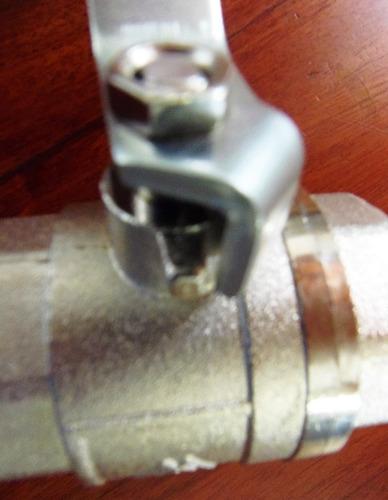 llave  valvula paso rapido 1 1/2 pulgadas  metales aleados