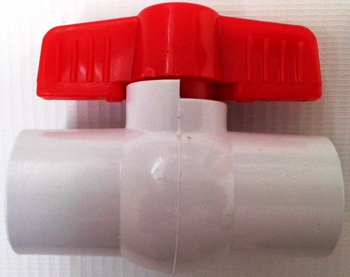 llave valvula plastica paso pvc bola con rosca 1/2  pulgada
