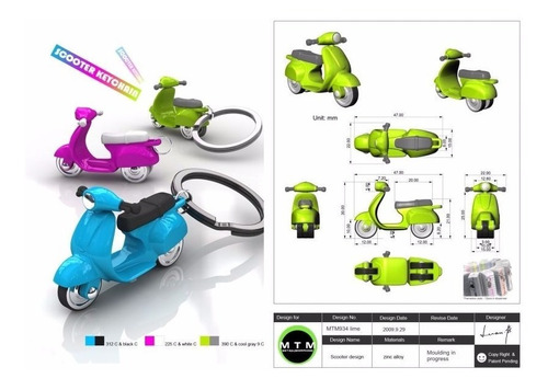llavero 3d moto, original metalmorphose, por: banimported