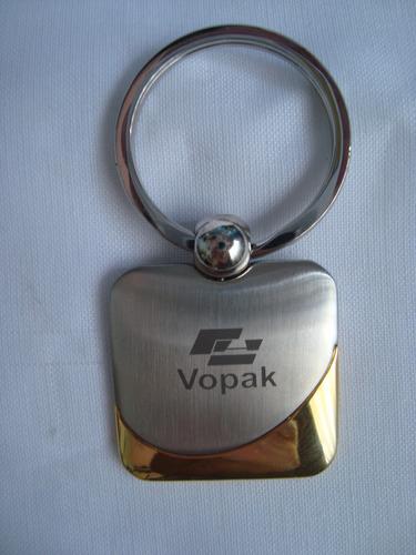 llavero acero opaco-bronce logo c/estuche ultimo disponible