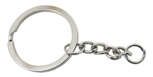 llavero argolla con cadena de acero con 100 piezas obi