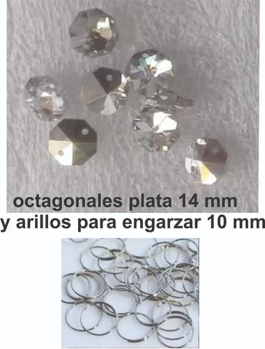 llavero argolla plana con cadena de acero cromo