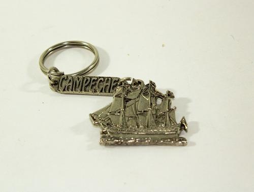 llavero artesanal barco pirata campeche