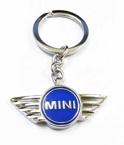 llavero austin mini cooper azul