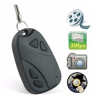 llavero auto cámara espía graba audio y vídeo 30fps sd fotos