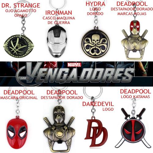 llavero avengers los vengadores marvel superhéroes variedad