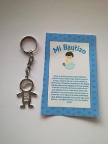 Llaveros De Bautizo De Nino.Llavero Bautizo 20 Pz Nino Pweter Con Oracion