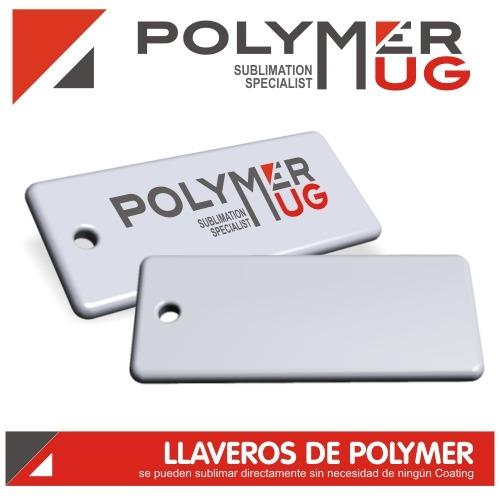 llavero blanco sublimable - sublimacion - polymer x 20