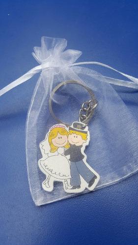 llavero + bolsa+ tarjetita recuerdo souvenirs matrimonio