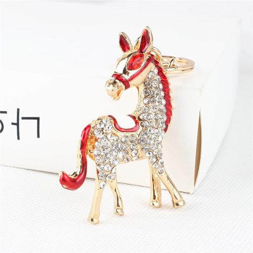 llavero caballo cristales swarovski regalo exclusivo l-010