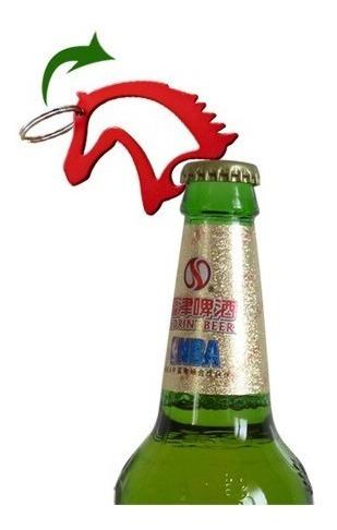 llavero cabeza de caballo, destapador de botellas, azul