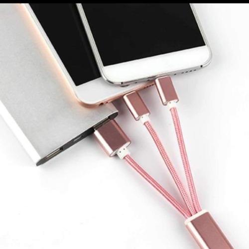 llavero cargador para iphone y samsung