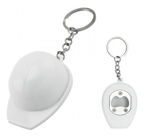 llavero casco destapador ideal tenderos marcamos con el logo