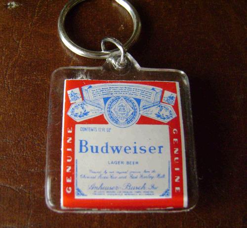 llavero cerveza budweiser