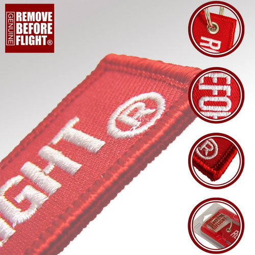 llavero clasico remove before flight ® con envío