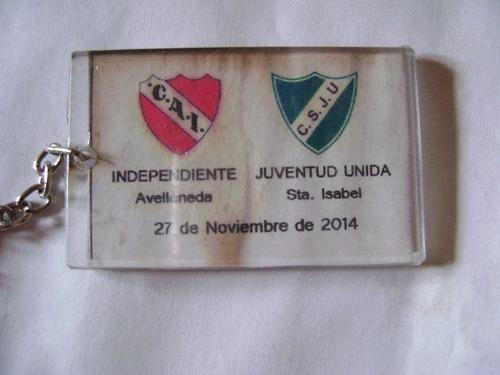 llavero club independiente y juv unida