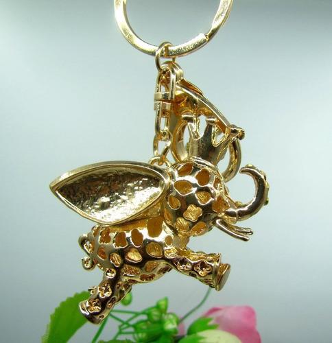 llavero con cristales swarovski  elefante morado