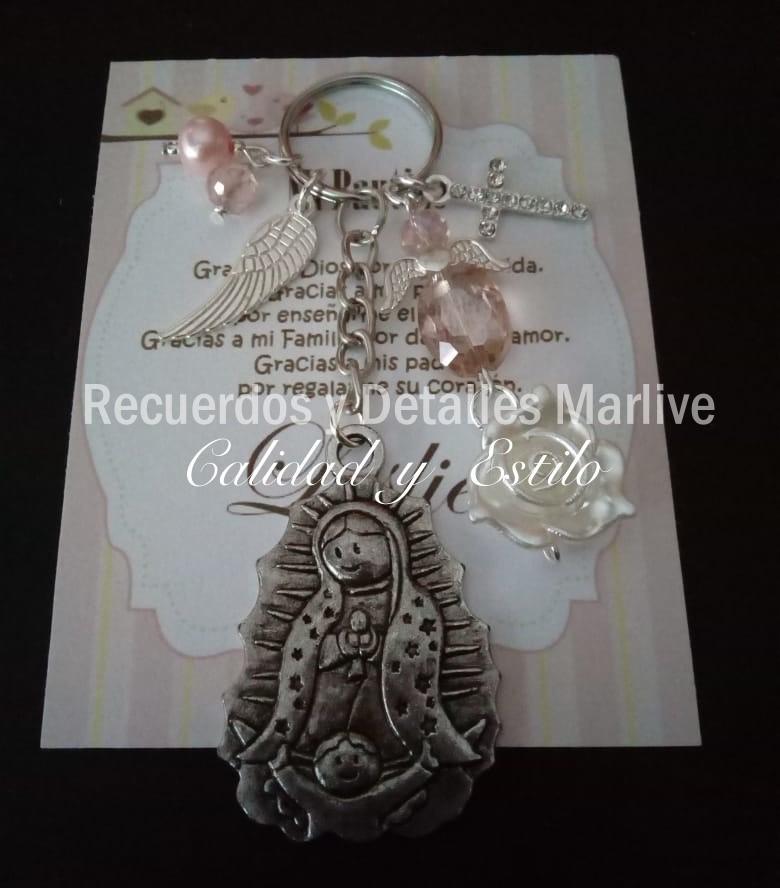 0b12be25cc94 Llavero Con Virgen Color Plata