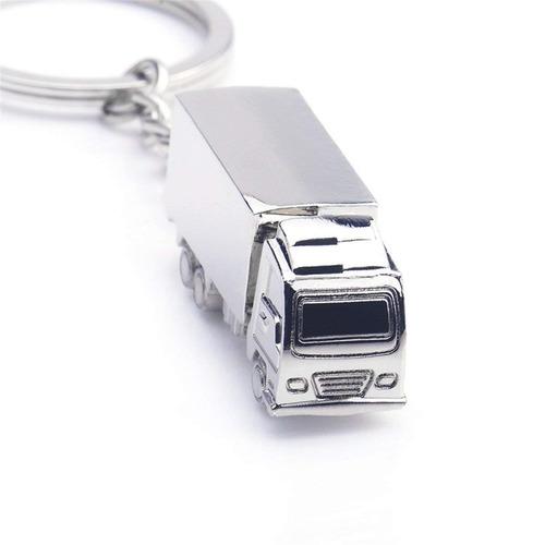 llavero contenedor pulido plateado camión camiones carga cl