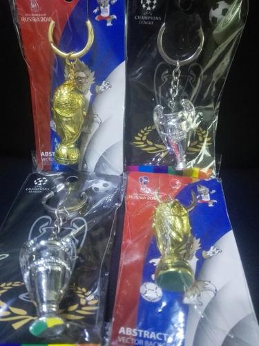 llavero copa mundo y copa champions
