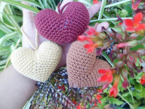 Amigurumi Llavero Corazon : Llavero corazón grande tejido a crochet amigurumi xl