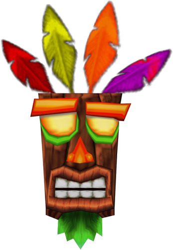 llavero crash aku aku nuev@ ganga! psone playstation 4