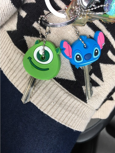 llavero cubre llave de silicon anime superhéroes kawaii