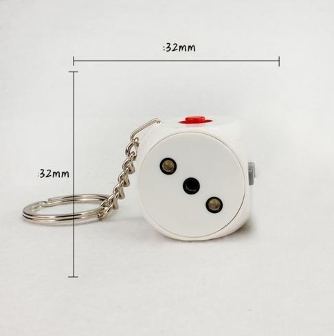 llavero de dados  linterna led laser rojo y shock electrico