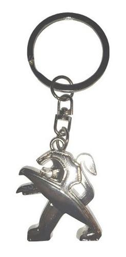 llavero de león emblema peugeot original para llaves