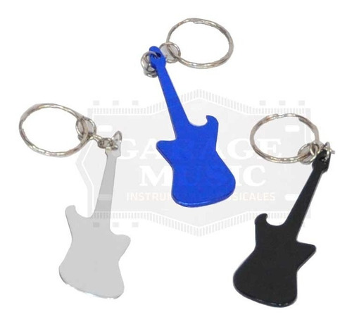 llavero de metal modelo guitarra diferentes colores