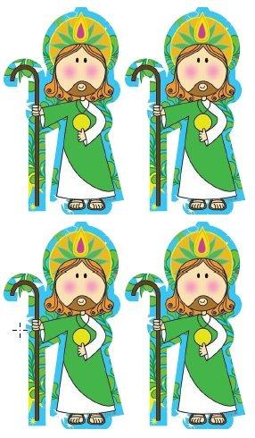 Llavero Decorado San Judas Caricatura Mdf Impresion Laser 1400