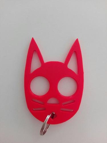 llavero defensa personal manopla ninjacat portable colores