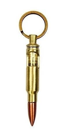 llavero destapador forma de bala color dorado