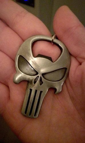 llavero destapador marvel the punisher skull