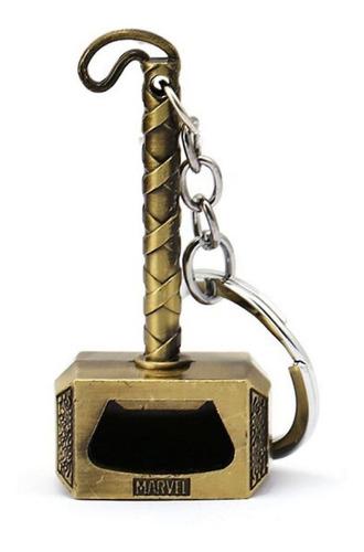 llavero destapador thor martillo mjolnir avengers bronce